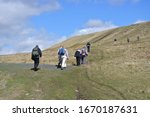 Hill Walkers On A Welsh...