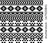 aztec tribal seamless black and ... | Shutterstock .eps vector #167020841