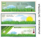 set of natural spring banners | Shutterstock .eps vector #167020964