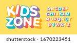 3d letter set for kids zone.... | Shutterstock .eps vector #1670223451
