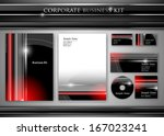 corporate identity kit or... | Shutterstock .eps vector #167023241