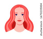 portrait of a redhead woman.... | Shutterstock .eps vector #1670235004