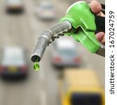 drop of green fuel on many cars ... | Shutterstock . vector #167024759