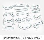 set ribbons vector design... | Shutterstock .eps vector #1670274967
