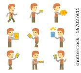 urban character set in... | Shutterstock .eps vector #167027615