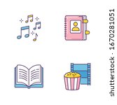 recreation rgb color icons set. ...   Shutterstock .eps vector #1670281051