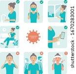 2019 ncov covid 19 virus... | Shutterstock .eps vector #1670283001