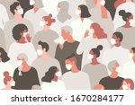 coronavirus pandemic. novel... | Shutterstock .eps vector #1670284177