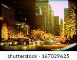 holiday lights on michigan...   Shutterstock . vector #167029625