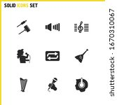 melody icons set with singer...