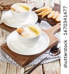 close up white coffee cup with... | Shutterstock . vector #1670341477