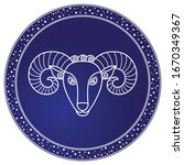 aries zodiac sign of ram and... | Shutterstock .eps vector #1670349367