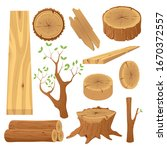 collection of tree logs  planks ... | Shutterstock .eps vector #1670372557