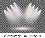 spotlights with smoke and scene.... | Shutterstock .eps vector #1670385901