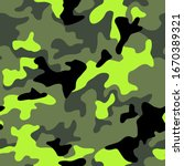 camouflage texture seamless... | Shutterstock .eps vector #1670389321