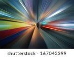 futuristic radial blur... | Shutterstock . vector #167042399