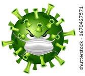 coronavirus evil virus cartoon... | Shutterstock .eps vector #1670427571