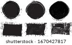 grunge post stamps collection ...   Shutterstock .eps vector #1670427817