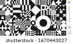 abstract bauhaus geometric... | Shutterstock .eps vector #1670443027