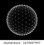 spheres of dots and lines... | Shutterstock .eps vector #1670447947