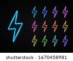 realistic color 3d neon sign of ... | Shutterstock . vector #1670458981