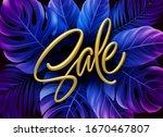 golden metallic summer sale... | Shutterstock .eps vector #1670467807