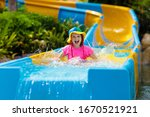 Kids On Water Slide In Aqua...