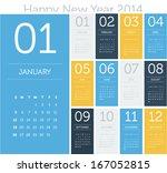 Calendar 2014   Flat Design...