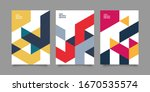 flat retro geometric covers... | Shutterstock .eps vector #1670535574