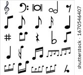 black color music note... | Shutterstock .eps vector #1670546407