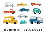 cute collection colorful cars... | Shutterstock .eps vector #1670576161