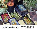 still life with fantasy tarot...   Shutterstock . vector #1670590921