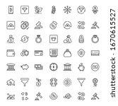 finance design icons set. thin... | Shutterstock .eps vector #1670615527
