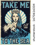 Vintage Nautical Poster With...