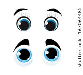 two different style of eyes... | Shutterstock .eps vector #167064485