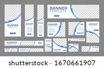 set of creative web banners of... | Shutterstock .eps vector #1670661907