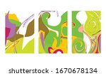abstract color mix wall...   Shutterstock .eps vector #1670678134