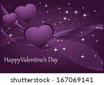 valentine card | Shutterstock .eps vector #167069141