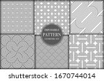 set of 6 geometric impossible... | Shutterstock .eps vector #1670744014