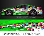 car graphic background vector. ... | Shutterstock .eps vector #1670747134