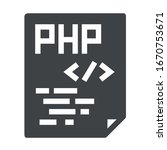 php programming black icon on...