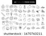 large set of thin  linear icons.... | Shutterstock .eps vector #1670763211
