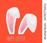 happy easter design with bunny... | Shutterstock .eps vector #1670771011
