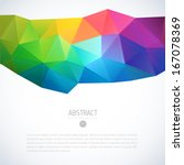 multi colored vector abstract... | Shutterstock .eps vector #167078369