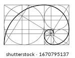 golden ratio. template golden... | Shutterstock .eps vector #1670795137