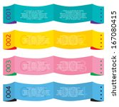 colorful paper banners | Shutterstock .eps vector #167080415