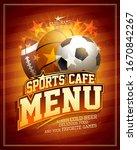 sports cafe menu card design...   Shutterstock .eps vector #1670842267