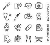 medical care line art icon ... | Shutterstock .eps vector #1670884417