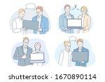 coworking  brainstorming ... | Shutterstock .eps vector #1670890114