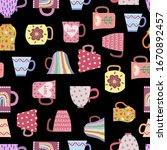 vector seamless pattern of...   Shutterstock .eps vector #1670892457